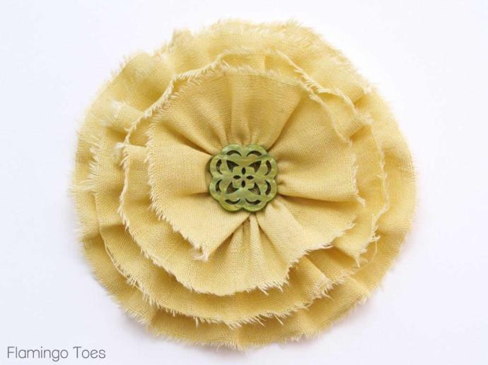 Shabby Ruffled Flower