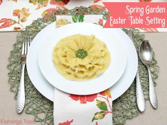 Spring Garden Easter Table Setting