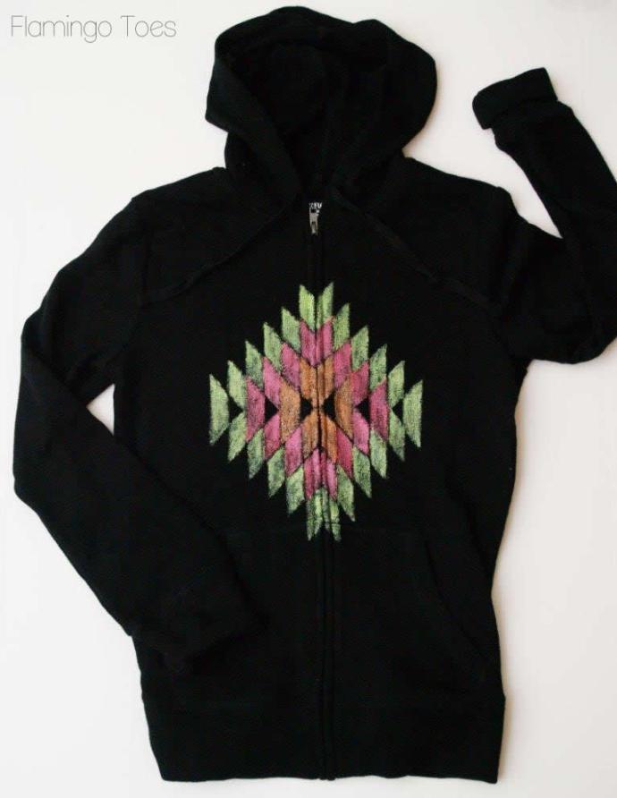Aztec Painted Hoodie
