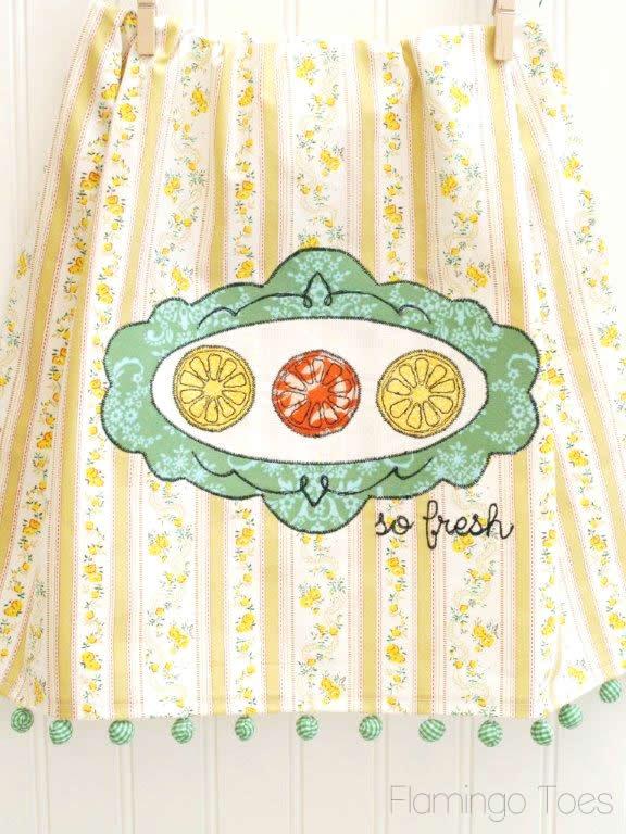 Embroidery Dishtowel DIY