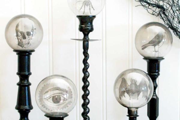 Halloween Crystal Ball Candlesticks