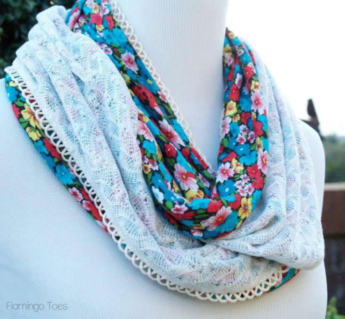 Knit and Lace Scarf Tutorial
