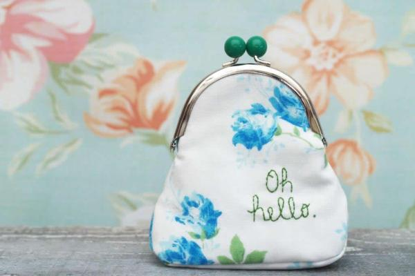 DIY Embroidered Coin Purse