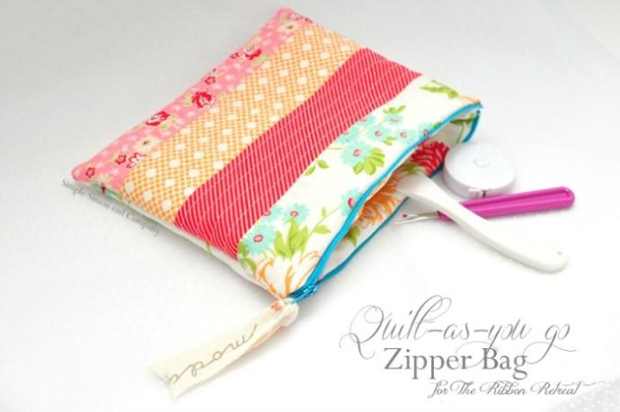 Quilt-As-You-Go-Zipper-Bag