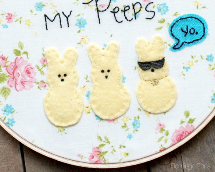 cool peeps embroidery