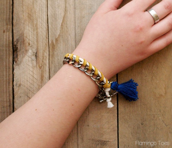 how to make a leather and metal bracelet