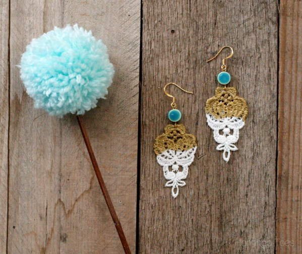 Spring Gold Dipped Earrings