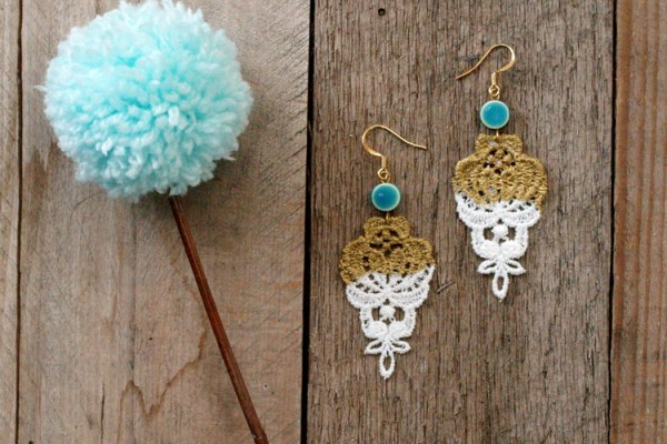 Spring Gold Dipped Earrings