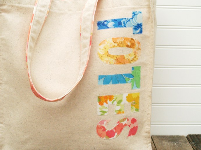 Totes Fabric Letters