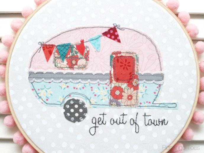 Sweet Caravan Hoop Art
