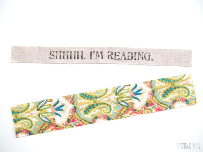 bookmark and backing