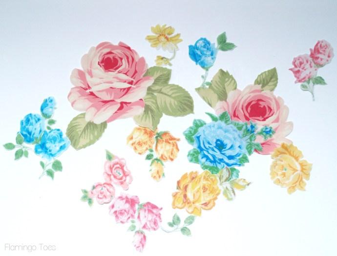 vintage fabric flowers