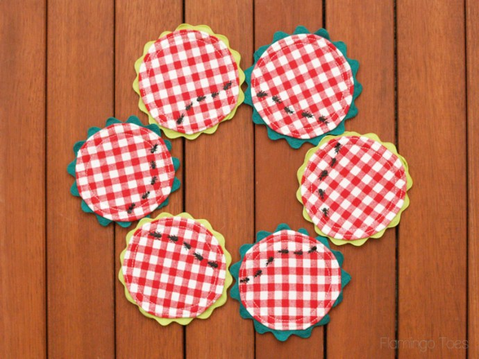 Cute Picnic and Ants Coasters
