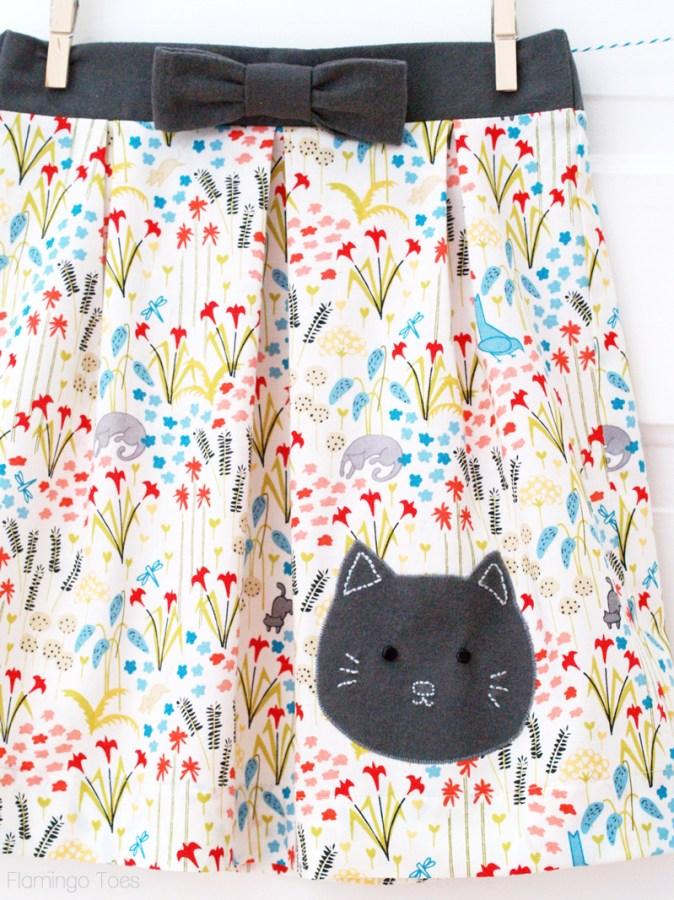 Sweet Kitty Skirt for Girls