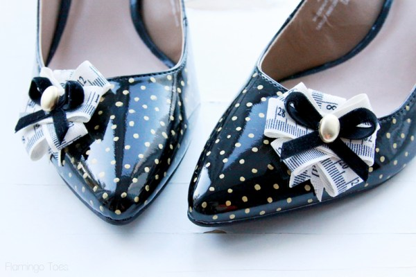 Gold Polkadot Heels Refashion