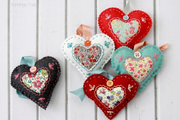 Felt-Heart-Valentines