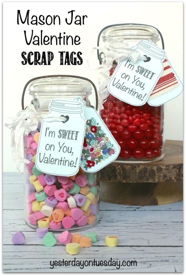 Mason Jar Valentines Tags