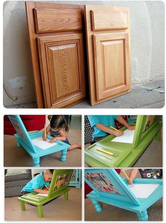 Cupboard-into-Art-Desk