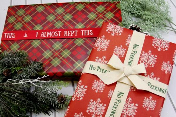 Personalized Christmas Ribbon