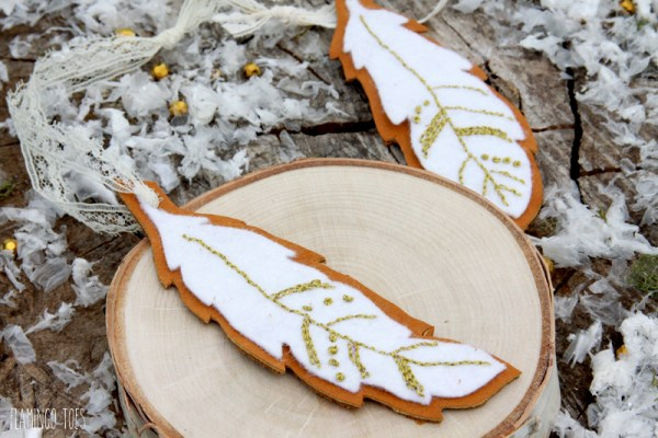 Embroidered Felt and Leather Ornaments