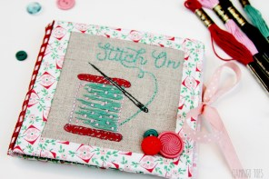 Stitch On – Embroidered Needle Book