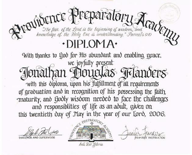 How do i make a home school diploma the flanders family website for Printable homeschool diploma