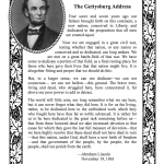 Lincoln's Gettysburg Address | another free printable from www.flandersfamily.info