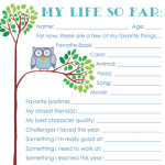 Free Printable Keepsake Chart for Kids to fill out annually | from www.flandersfamily.info