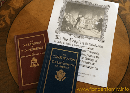 Free printable for Constitution Day