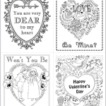Valentines to Print and Color