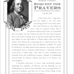 Free Printable - Benjamin Franklin's Request for Prayers at the Constitutional Convention