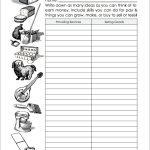 Free printable forms for helping children manage their money