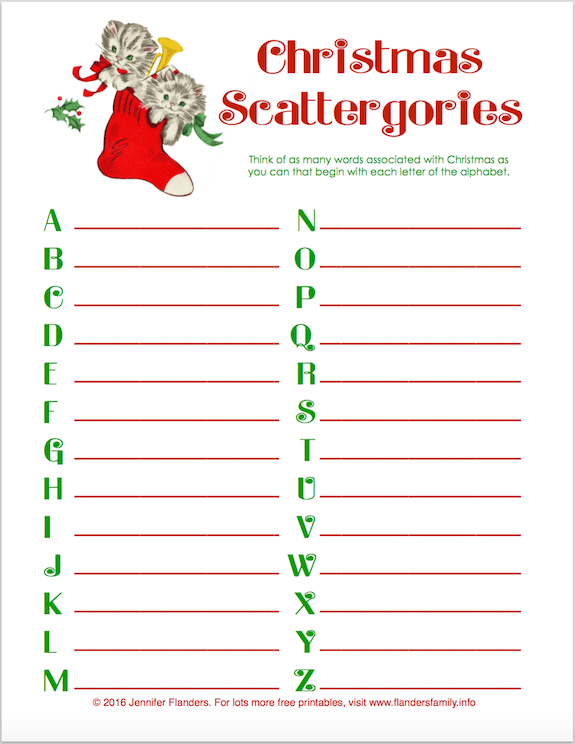 Irresistible image with scattergories printable