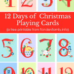 12 Days of Christmas Free Printable Playing Cards