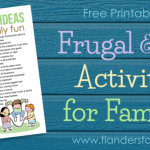 50 Frugal Ideas for Family Fun (free printable list) #frugalfunday