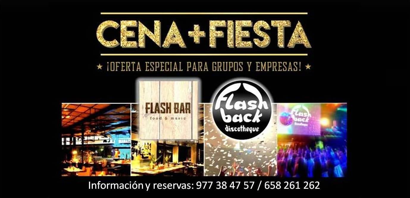 Cena + Fiesta @ Flash Back Salou