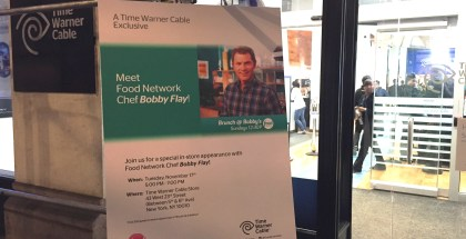 Bobby Flay  of the Food Network - at TWC Flatiron!