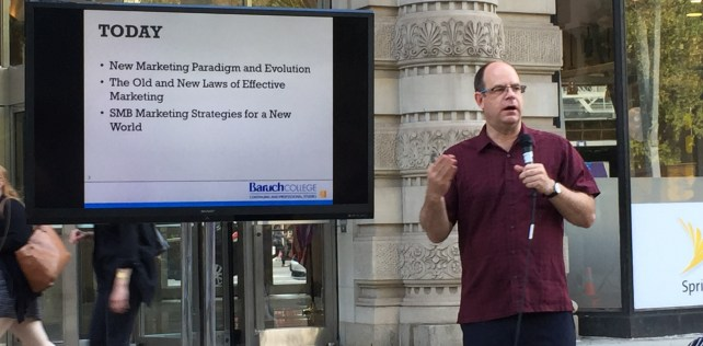 """Learn How to Take Down Your Marketing Goliath"" – Informative Talk in Flatiron Plaza"