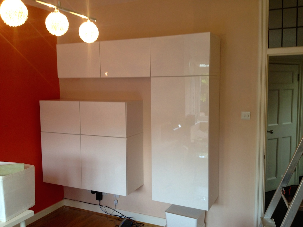 Ikea besta wall storage unit installation flat pack dan - Ikea estanteria besta ...