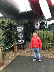 The world's coolest Mc Donald's can be found in Taupo. There's an airplane which you and your kids can dine in after taking your orders from the restaurant