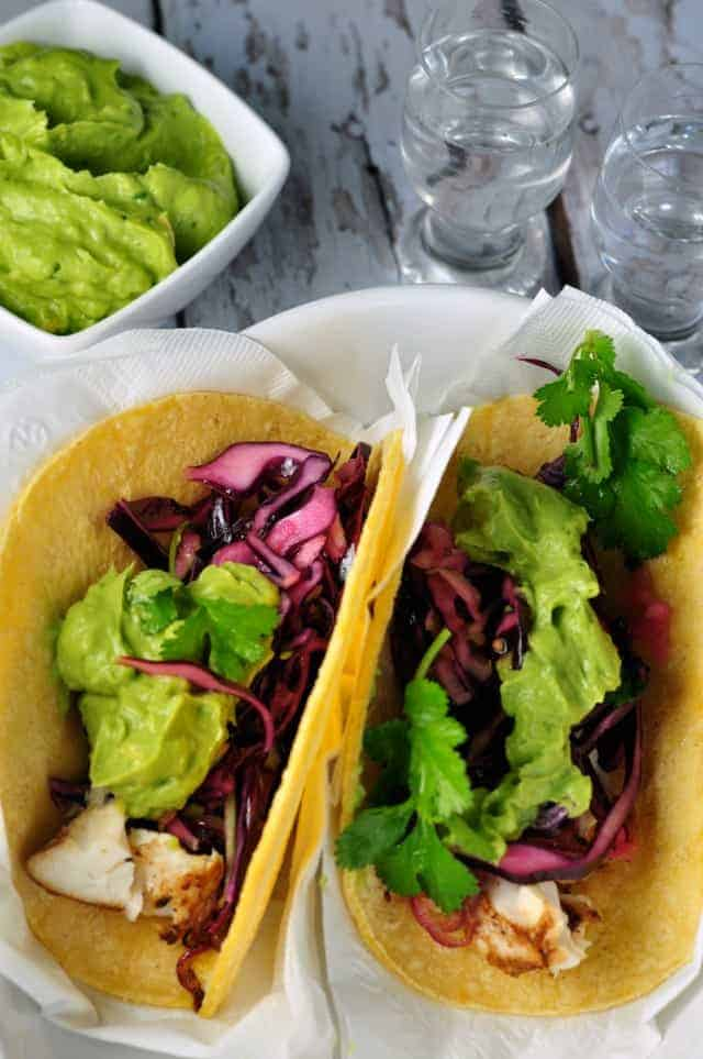 Halibut Tacos with Tequila Lime Marinade - Flavour and Savour