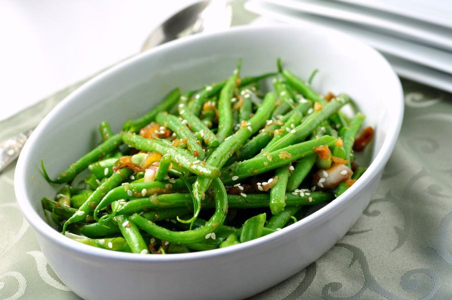 This is a quick and easy side dish. Simply blanch the beans first by ...