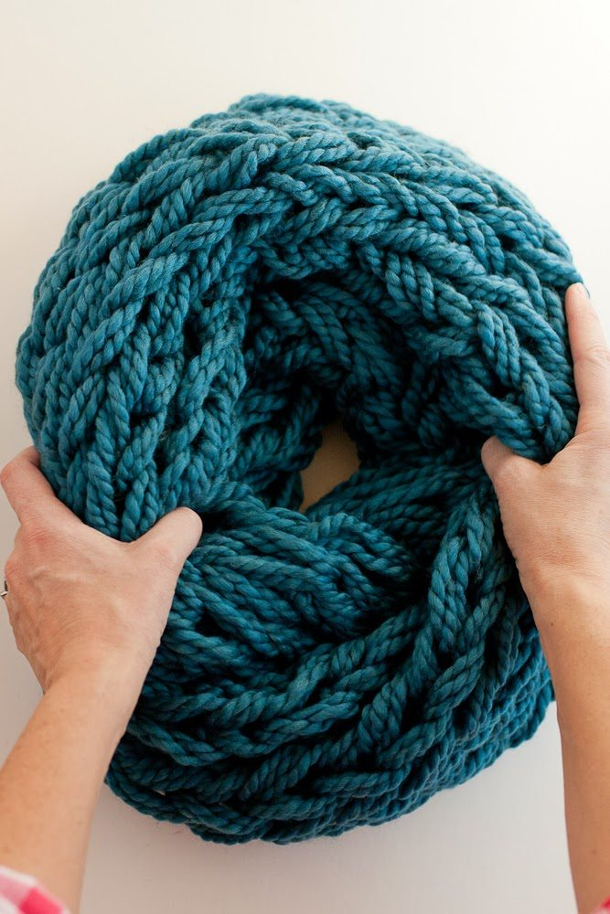 Arm Knitting Step By Step Tutorial : Arm knitting how to photo tutorial and pdf flax twine