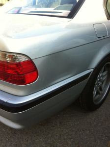 BMW 740 before
