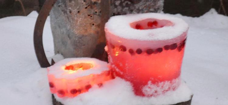 How to make Wintery ice candles