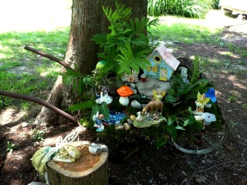 Marlene Kindred's wheelbarrow fairy garden