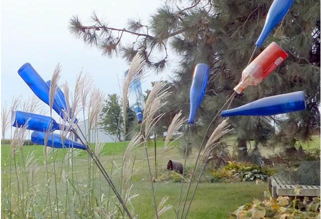 Photo of blue bottle tree by Nancy K. Meyers