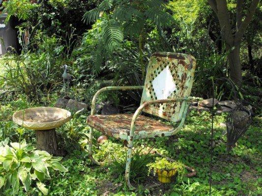 Kay Bassett's chippy vintage chair