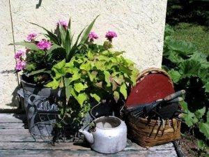 An artless arrangement of garden treasures