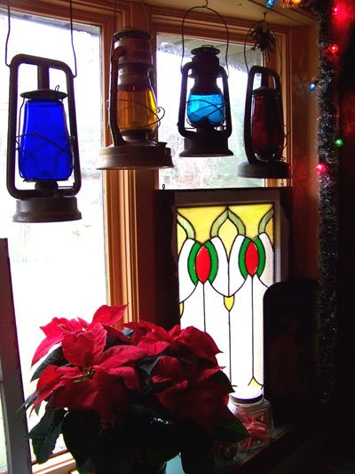 """The lantern collection. Julie says, """"The littlest one is turquoise. We have never found another like it. """""""